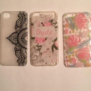 Bride Set of 3 iPhone 6 cases